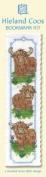 Three Highland Cows Bookmark Cross Stitch Kit