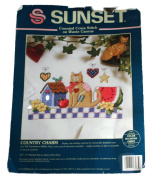 Sunset Counted Cross Stitch on Waste Canvas Embroidery Kit-13585 Country Charm
