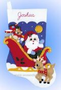 Design Works Felt Applique kit - Santas Toy Sleigh Stocking