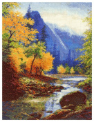 MCG Textiles 52414 Gold Collection Counted Cross Stitch Kit, Below Bridal Veil Falls by Charles White