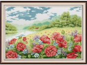 Happy Forever Cross Stitch, Flowers,Poppy garden