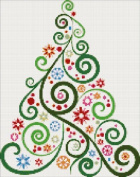 Abstract Christmas Tree No2 Counted Cross Stitch Kit