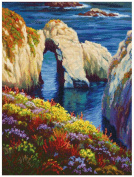 MCG Textiles 52418 Gold Collection Counted Cross Stitch Kit, Last Light Point Lobos by Charles White
