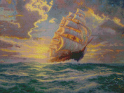 Candamar Designs Courageous Voyage by Thomas Kinkade No.51646 Counted Cross Stitch Kit, 41cm by 30cm