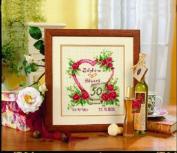 Vervaco 50th Wedding Anniversary Cross Stitch Heart Kit