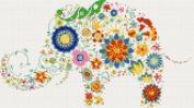 Modern Elephant No2 Counted Cross Stitch Kit