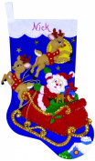 Design Works Felt Embroidery Applique kit Stocking - Moonlit Ride