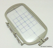 Large Embroidery Hoop w/ Placement Grid (SA432) for Brother SE270D, SE-350, SE-400, PE-500, 900D 950D SB7050E, HE-120, HE-240, Innovis 500D, Innovis 900D, Innovis 950D, LB6770PRW, LB6800PRW, Babylock Sofia A-Line and Babylock Intrigue from ThreadNanny