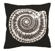 Collection D'art Ammonite Pillow Cross Stitch Kit 15 3/4'X15 3/4'