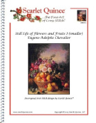 Still Life of Flowers and Fruits I (smaller) - Eugene-Adolphe Chevalier