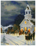 MCG Textiles 52422 Gold Collection Counted Cross Stitch Kit, Christmas Eve by Keith Brown