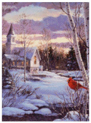 MCG Textiles 52423 Gold Collection Counted Cross Stitch Kit, Visitation by Les Didier