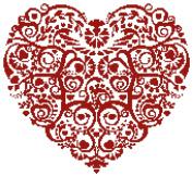 Heart with Swirls No2 Counted Cross Stitch Kit