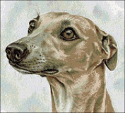 Whippet Counted Cross Stitch Kit
