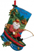 Vintage Bucilla Felt Applique Christmas Stocking Kit