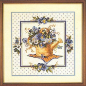 Pansy Watering Can - Cross Stitch Kit