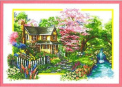 House NO.21876 of cross stitch embroidery kit spring