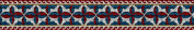 Art Needlepoint Blue and Red Bookmark Kit
