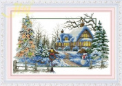 Cross stitch embroidery kit four seasons / winter