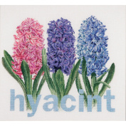Hyacinth On Linen Counted Cross Stitch Kit-41cm - 1.3cm x 39cm 36 Count