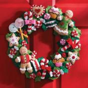Cookies & Candy Wreath Felt Applique Kit SKU-PAS981468