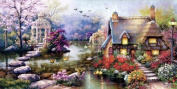 House of cross stitch embroidery kit large painting fairy