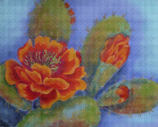 Art Needlepoint Prickly but Beautiful Colourful Cactus