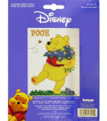 Janlynn Winnie The Pooh Counted Cross Stitch Kit-13cm x 7 Inch