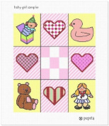 Baby Girl Sampler Needlepoint Canvas