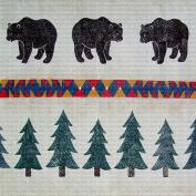 Art Needlepoint Lodge Bear Pattern Needlepoint Canvas by Run a Muck Studios