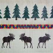 Art Needlepoint Lodge Deer Pattern Needlepoint Canvas by Run a Muck Studios