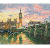 Maia london counted cross stitch kit designed by thomas kinkade