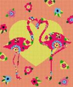 Flamingo Art Deco Needlepoint Canvas
