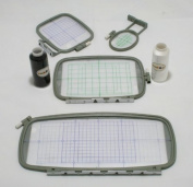 Embroidery Machine Hoop SET w/ Placement Grids for Brother PE-700, PE700II, PE-750D, PE-770, PE-780D, Innovis 1000, Innovis 1200, Innovis 1250D, PC-6500, PC-8200, PC-8500 And Babylock Ellure, Emore and Esante from THREADNANNY
