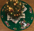 Candy Snowman Tree Skirt Felt Applique Kit SKU-PAS1033058