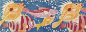 Art Needlepoint School of Fish Needlepoint Pillow Canvas