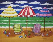 Art Needlepoint At the Beach Needlepoint Canvas by Renie Britenbucher