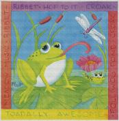 Art Needlepoint Frog Needlepoint Kit by Paul Brent