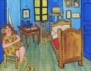 Art Needlepoint Sunflower Diva in Van Gogh's Bedroom Needlepoint Kit by Renie Britenbucher