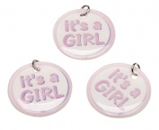 Darice It's a Girl Charm Circles, 12-Piece