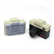 New 2Pcs Vintage Style Korea Grey Camera Wooden Rubber Stamp Craft Novelty Gift