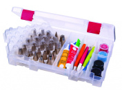 ArtBin 6933AB Baker's Cupboard Solutions Cake Decorating Storage Box, Translucent Clear