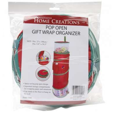 General Products Pop-Open Christmas Gift Wrap Organiser