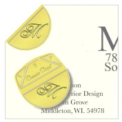 "Monogram - ""M"" - Paper Clips - Pack of 100"