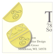 """Monogram - """"T"""" - Paper Clips - Pack of 100"""