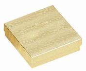 100 Cotton Filled Boxes Size 33, 8.9cm x 8.9cm x 2.5cm , Gold size #33