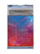 ClearBags IMPACT Translucent Coloured Plastic Envelopes 13cm . x 17cm . clear pack of 25 [PACK OF 4 ]