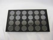 24 Gem Jar Tray Black Foam Insert Jewellery Gemstone Display