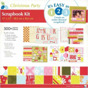 American Traditional Designs 30cm x 30cm Scrapbook Kit - Christmas Party 500+ Pieces