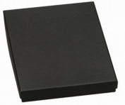 100 Cotton Filled Boxes Size 33, 8.9cm x 8.9cm x 2.5cm , Black size #33